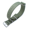 MiLTAT 20mm G10 Military NATO Watch Strap, Waffle Nylon Armband, Brushed - Military Green
