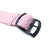 20mm MiLTAT Perlon Watch Strap, Rosa Pink, PVD Brushed Black Ladder Lock Slider Buckle - Strapcode