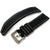 20mm, 21mm, 22mm, 23mm MiLTAT Black Kevlar Leather Watch Strap in White Stitches