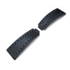 20mm MiLTAT RX Collection Watch Strap, NERO Black Genuine Calf, Navy Blue St. Tailor-made for Rolex Submariner & Explorer - Strapcode