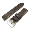 20mm 22mm MiLTAT Pull Up Leather Russet Watch Strap Beige Hand Stitches Strapcode Watch Bands