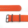 MiLTAT 21mm G10 watch strap ballistic nylon school look armband - Orange, PVD hardware