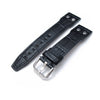 20mm, 21mm, 22mm IWC Big Pilot 5002 Type CrocoCalf Black Watch Strap, Rivet Lug, Semi Square Tail - Strapcode