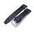 20mm, 21mm, 22mm IWC Big Pilot 5002 Type CrocoCalf Black Watch Strap, Rivet Lug, Semi Square Tail