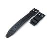 22mm MiLTAT Black CrocoCalf (Croco Grain) IWC Big Pilot replacement Strap, Rivet Lug