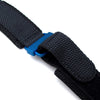 20mm, 22mm MiLTAT Honeycomb Black Nylon Velcro Fastener Watch Strap IP Blue Buckle, XL - Strapcode