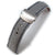 20mm, 21mm, 22mm MiLTAT Military Grey Washed Canvas Roller Deployant Watch Band, Navy Stitching