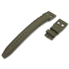 22mm MiLTAT Forrest Green Cordura 1000D IWC Big Pilot replacement Strap, D Brown Rivet Lug
