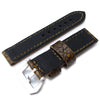 22mm MiLTAT Rusty Rock Genuine Alligator Leather Watch Band Olive Green Stitching XL Strapcode Watch Bands