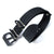 20mm, 22mm MiLTAT G10 Grezzo Zulu watch strap Black BK
