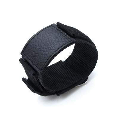 MiLTAT Double Layer Nylon 24mm Black Velcro Fastener Watch Strap for 44mm Panerai, Brushed, Pre-V Buckle