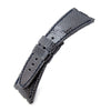 Dark Grey Genuine Lizard Leather Watch Strap, Wax thread Dark Navy Stitching, custom made for Audemars Piguet Royal Oak Offshore