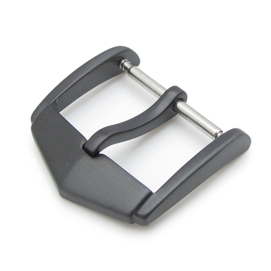 TAG Style 18mm or 20mm Top Quality Stainless Steel 316L Spring Bar type Buckle, PVD Black finish
