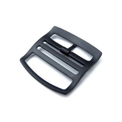 20mm, 22mm Solid 316L Stainless Steel Ladder Lock Slider tang buckle, PVD Brushed Black - Strapcode