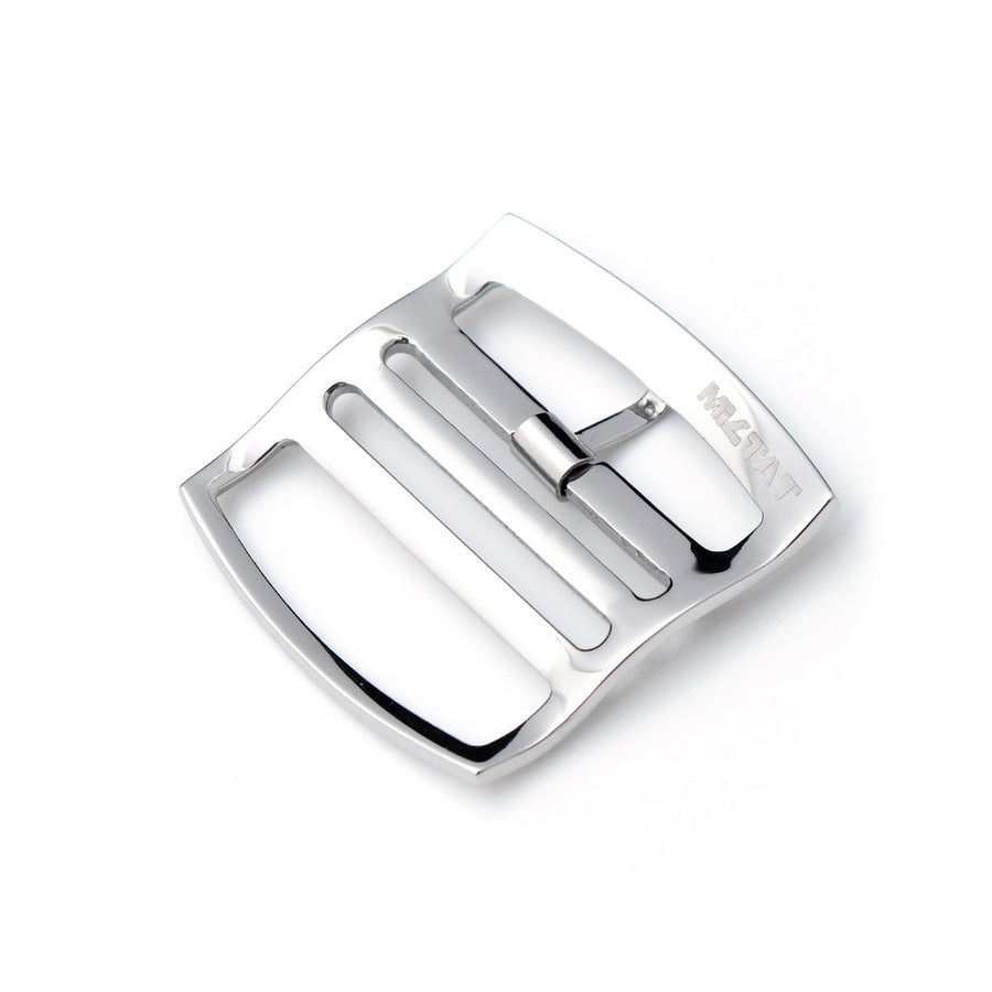 20mm, 22mm Solid 316L Stainless Steel Ladder Lock Slider tang buckle, Polished