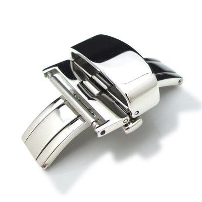 18mm Stainless Steel Double Deployment Buckle / Clasp - Strapcode