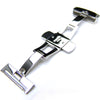 20mm, 22mm, 24mm Deployment Buckle / Clasp, Polished Stainless Steel for Leather Strap