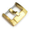 18mm, 20mm, 22mm Top Quality Stainless Steel 316L Screw-in Buckle IWC Style, IP Gold - Strapcode