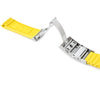20mm Crafter Blue - Yellow Rubber Curved Lug Watch Band for Seiko MM300 Prospex Marinemaster SBDX001, Wetsuit Ratchet Buckle - Strapcode