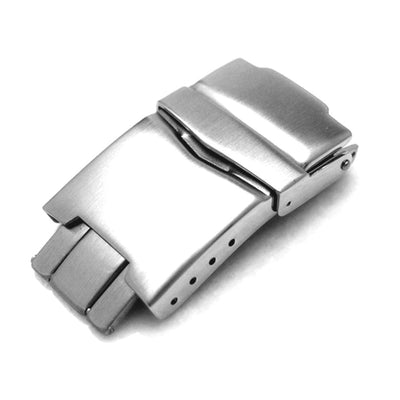 20mm or 22mm Stainless Steel Watch Parts Divers Clasp buckle - Strapcode