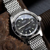 19mm, 20mm Ploprof 316 Reform Stainless Steel SHARK Mesh Watch Band, SUB Diver Clasp, Brushed - Strapcode