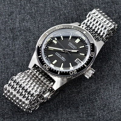 19mm, 20mm Ploprof 316 Reform Stainless Steel SHARK Mesh Watch Band Diver Strap P - Strapcode