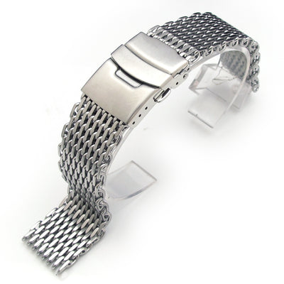 21mm or 22mm Ploprof 316 Reform Stainless Steel SHARK Mesh Watch Band Diver Strap B