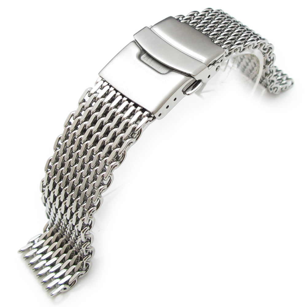 19mm 20mm Ploprof 316 Reform Stainless Steel SHARK Mesh Watch Band Diver Strap P Strapcode Watch Bands