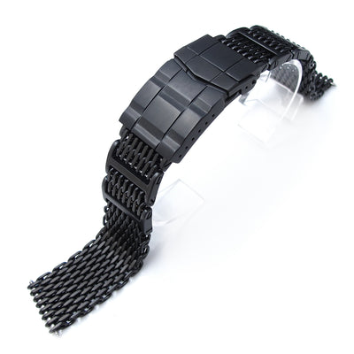 20mm Flexi Ploprof 316 Reform SHARK Mesh Band, 316L Stainless Steel, Submariner Diver Clasp, PVD - Strapcode