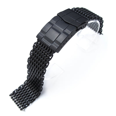 20mm Ploprof 316 Reform Stainless Steel SHARK Mesh Watch Band, SUB Diver Clasp, PVD - Strapcode