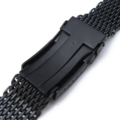 20mm Ploprof 316 Reform Stainless Steel SHARK Mesh Watch Band, Submariner Diver Clasp, PVD - Strapcode