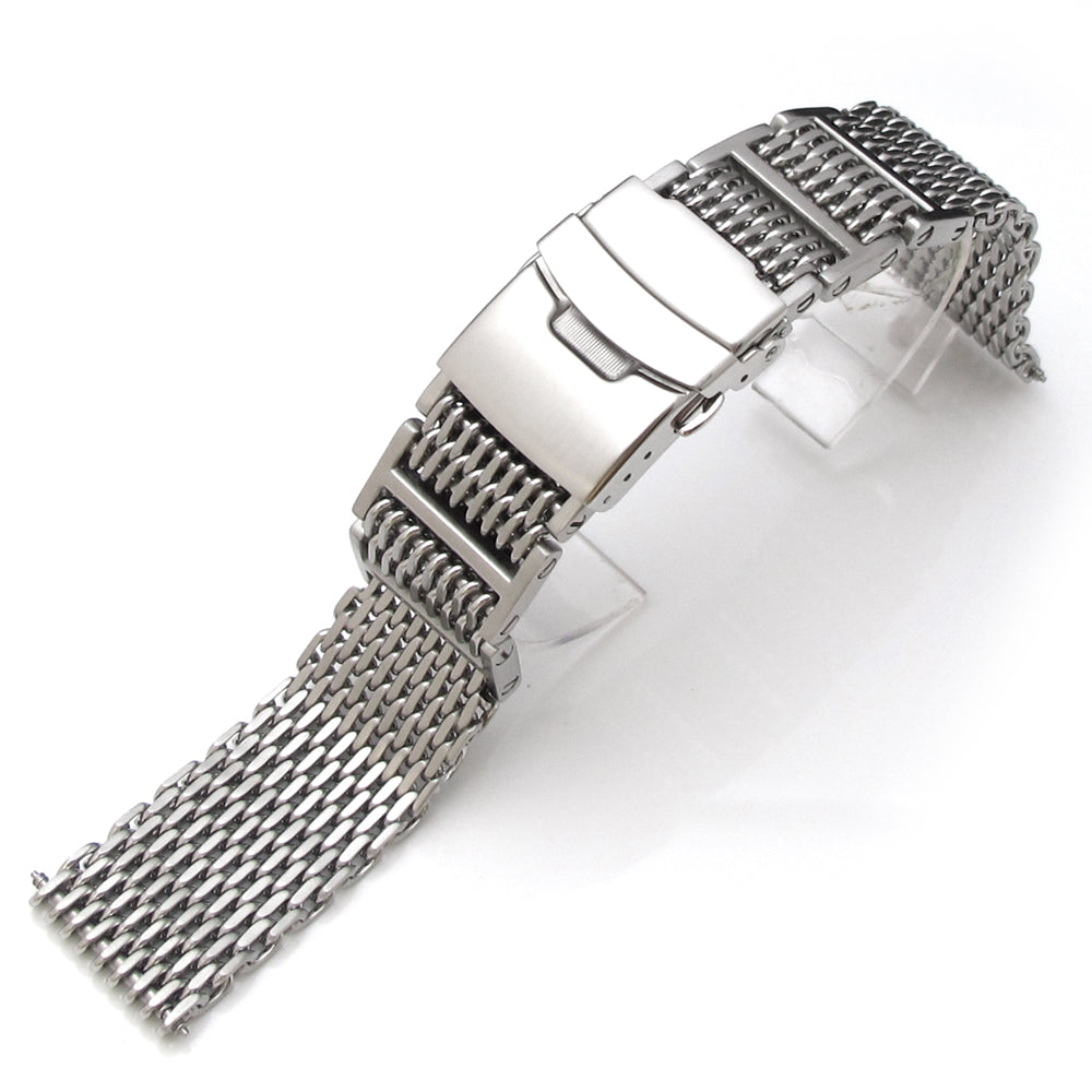 19mm 20mm 21mm or 22mm Flexi Ploprof 316 Reform SHARK Mesh Band Brushed 316L Stainless Steel Strapcode Watch Bands