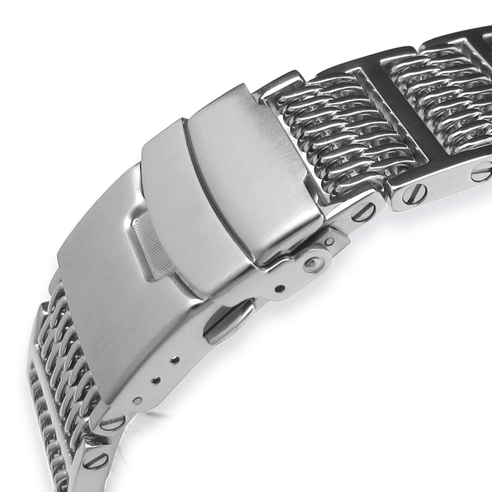 19mm 20mm 21mm or 22mm Flexi Ploprof 316 Reform SHARK Mesh Band Polished 316L Stainless Steel Strapcode Watch Bands