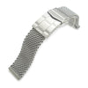 20mm 316L Stainless Steel Mesh Watch Bracelet, Solid End Lug, Submariner clasp - Strapcode