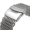 24mm Retro Ploprof Flatten SHARK Mesh Watch Band Milanese Band Brushed Strapcode Watch Bands