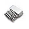 18mm, 20mm, 22mm or 24mm Stainless Steel mesh band extension piece, Brushed - Strapcode