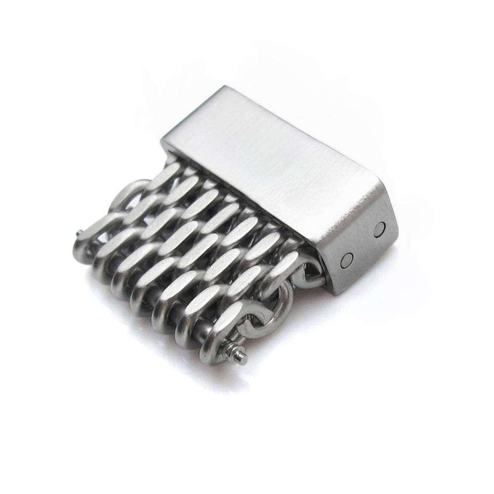 18mm 20mm 22mm or 24mm Stainless Steel mesh band extension piece Brushed Strapcode Parts