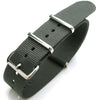 Nato 20mm Heat Sealed Heavy Nylon Polished Buckle - Grey