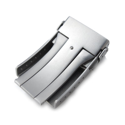 20mm 22mm Stainless Steel V Clasp Double Lock Button Diver Buckle Sandblasted Strapcode Buckles