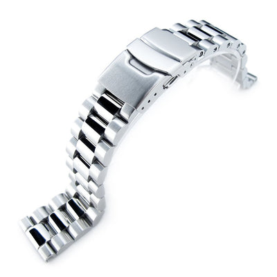 20mm Endmill Brushed & Polished 316L Stainless Steel Watch Band Straight End Diver Clasp Strapcode Watch Bands