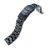 20mm Hexad Oyster 316L Stainless Steel Watch Band Straight Lug, Submariner Clasp PVD Black - Strapcode