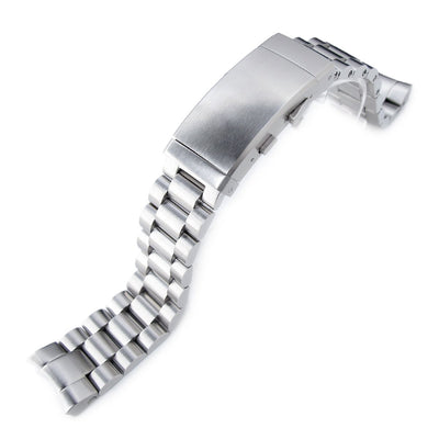 20mm Endmill Watch Band for SEIKO Sumo SBDC001 SBDC003 SBDC031 SBDC033, Wetsuit Ratchet Buckle - Strapcode