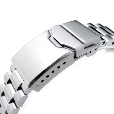 20mm Endmill Solid 316L Stainless Steel Watch Bracelet, Straight End, Button Chamfer - Strapcode
