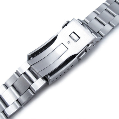 20mm Super Oyster Bracelet for SEIKO Sumo SBDC001 SBDC003 SBDC031 SBDC033, Button Chamfer - Strapcode