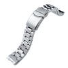 20mm Hexad Oyster 316L Stainless Steel Watch Band for Sumo SBDC001, Button Chamfer - Strapcode