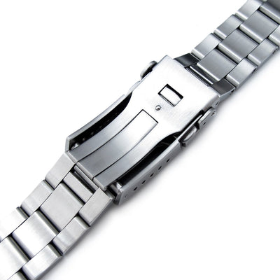 20mm Super Oyster watch band for Seiko MM300 Prospex Marinemaster SBDX001, Button Chamfer - Strapcode