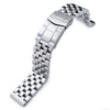 19mm, 20mm or 21mm SUPER Engineer Type II Solid Stainless Steel Watch Band, Solid Submariner Clasp - Strapcode