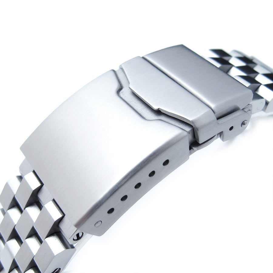 19mm, 20mm, 21mm, 22mm or 23mm Super Engineer II Solid SS Straight End Watch Band, Brushed, Button Chamfer Clasp