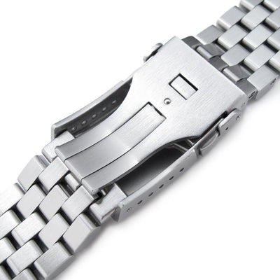 Watch Bracelet for Seiko MM300 Prospex SBDX001, 20mm Super Engineer II, Chamfer Brushed