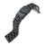 21.5mm Endmill 316L Stainless Steel Watch Bracelet for Seiko Tuna, Diver Clasp PVD Black